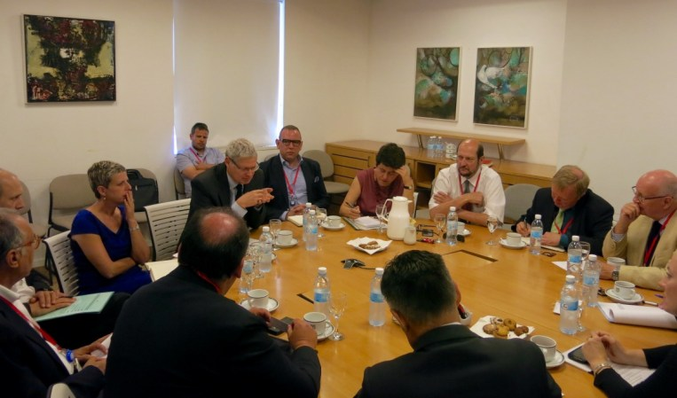 Meeting with Alon Ushpiz, Political Director of the Ministry of Foreign Affairs, Jerusalem