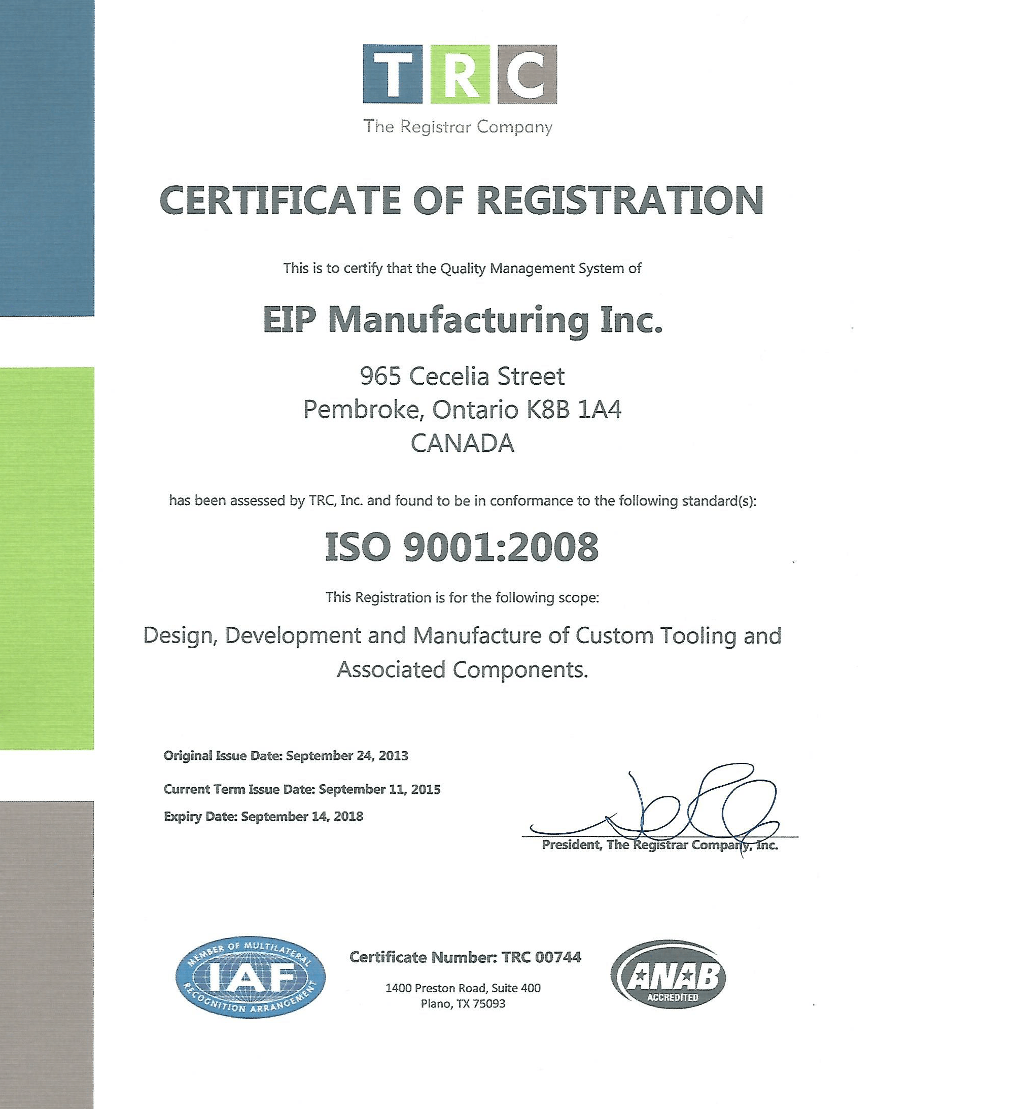 Certifications eip manufacturing certifications xflitez Images