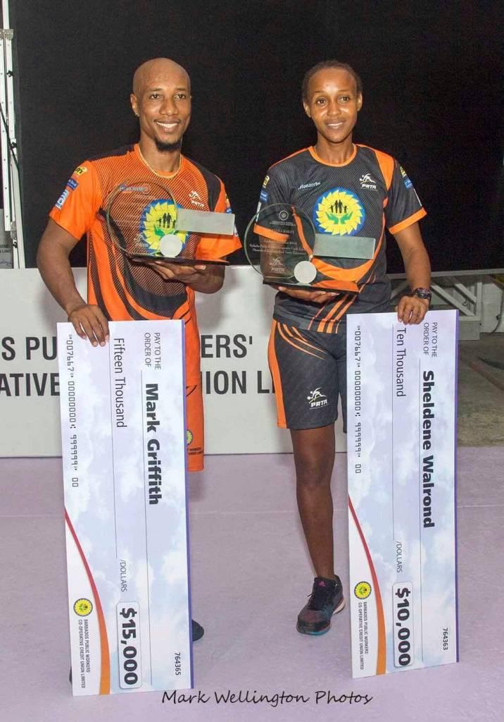 Professional Road Tennis Association Monarchs of the Court Champions 2018: Mark Venom Griffith & Sheldene Walrond