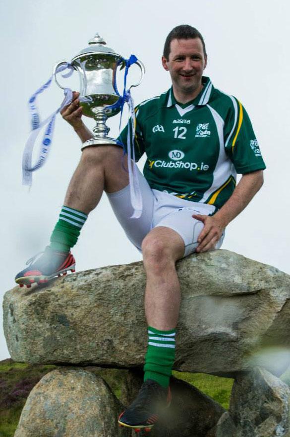 Brendan Cummins with his seventh All Ireland Hurling Poc Fada Championship Trophy