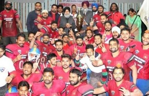 GNDU University Amritsar Elite Football League of India All India University American Football Champions 2015