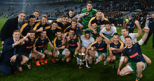 Ireland Celebrate after winning the International Rules Series with Australia