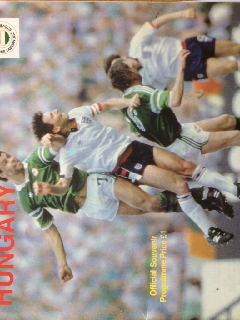 FIFA World Cup Qualifying Group 6 Republic of Ireland v Hungary Official Match Programme- Landsdowne Road Dublin 4th June 1989