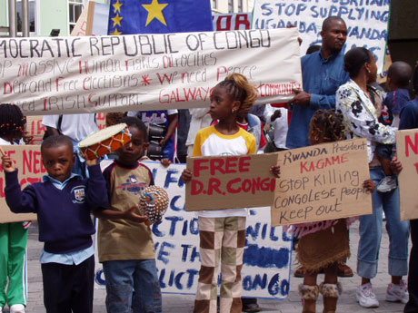 drc1 3 - Congolese Community In Galway Protest Against Political Injustice, 2005.