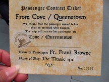 My ticket to the Heritage Museum: I Survived the Titanic!!