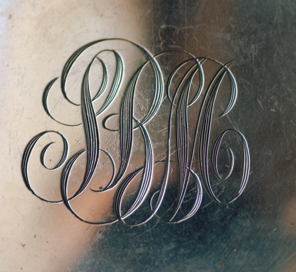 engraved initials