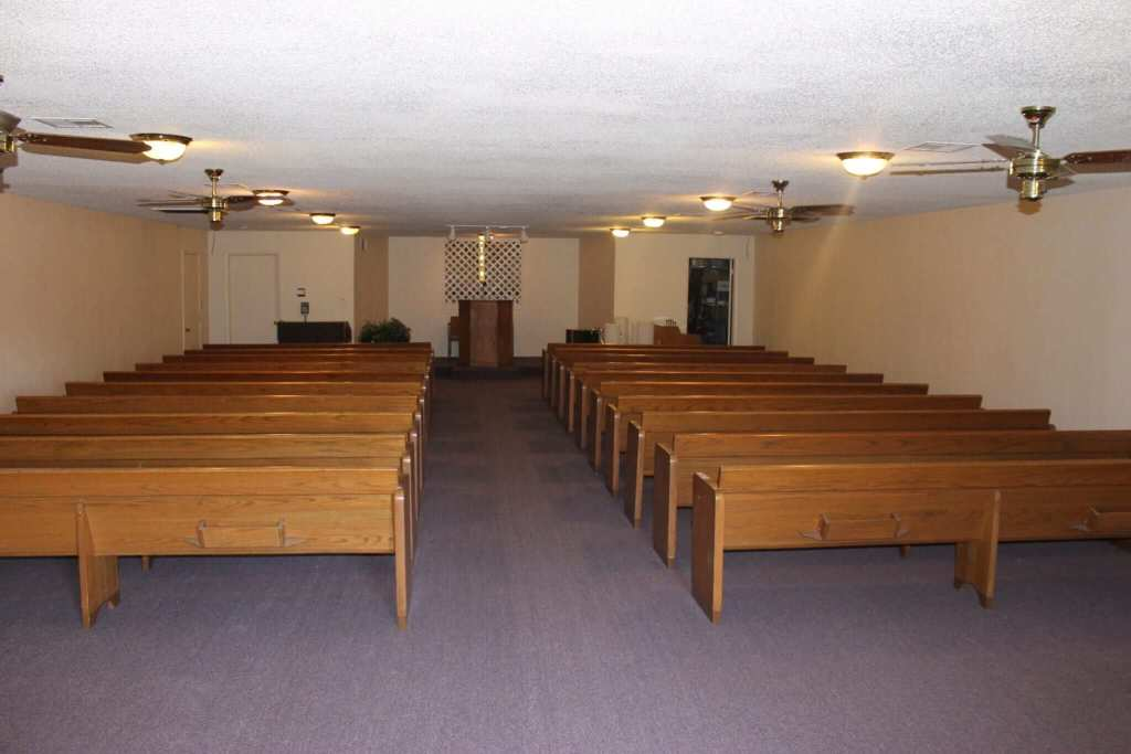 New carpet and flooring for a funeral home.