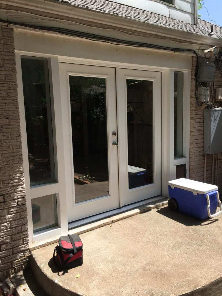 New French doors.