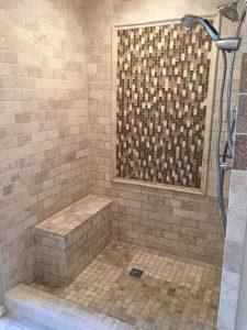 New tile shower.