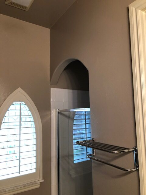 New bathroom wall paint.