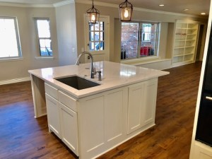 Photo of kitchen island.