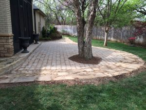 Custom stone patio.