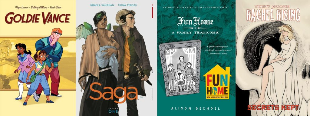 Goldie Vance, Saga, Fun Home, and Rachel Rising