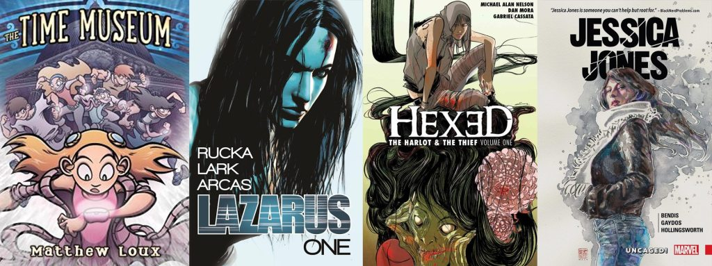 The Time Museum, Lazarus, Hexed, and Jessica Jones