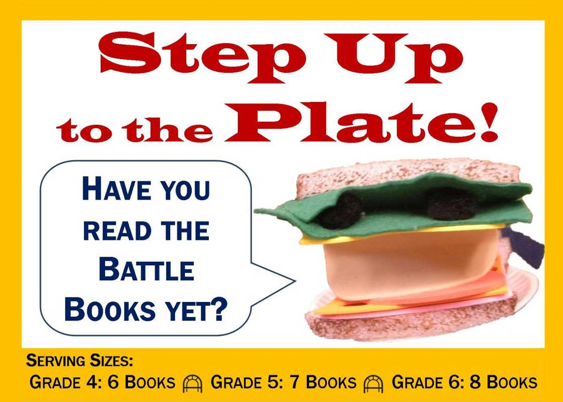 Step up to the Plate: Battle of the Books Ad