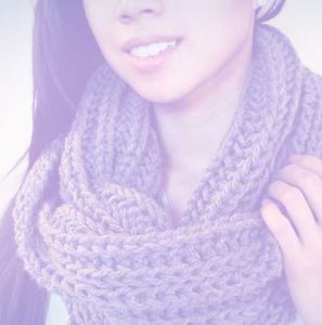 Crochet a Ribbed Infinity Cowl