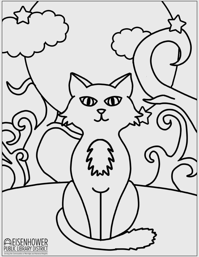 Printable Halloween Cat Page