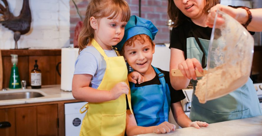 Kids Learn to Make Pasta