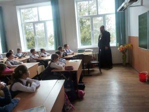 В храм Вознесения Господня ст. Стародеревянковской пришли школьники