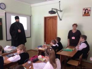 Полковой священник встретился со школьниками