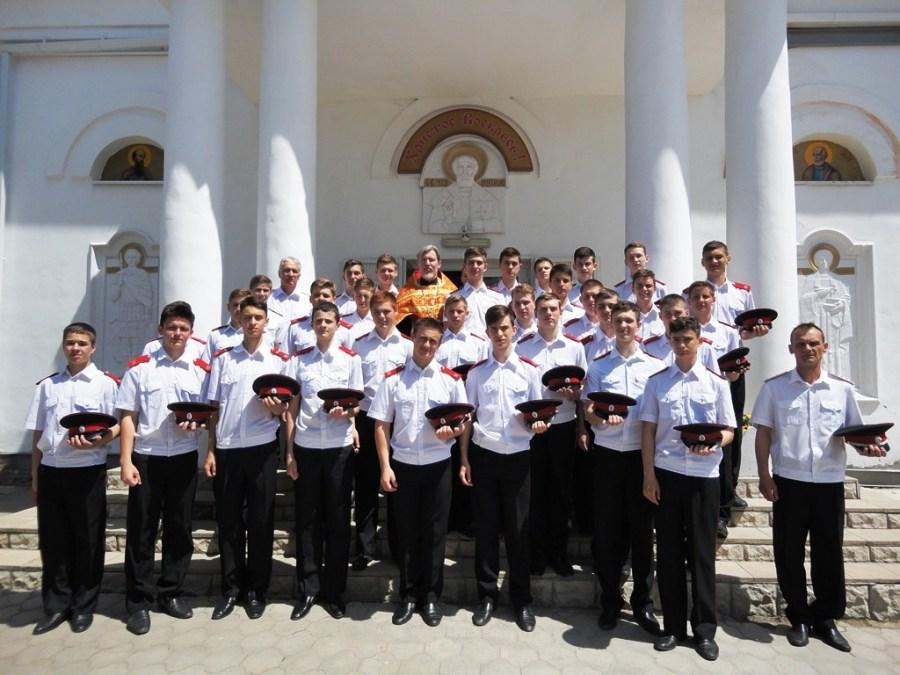 Духовник казачьего кадетского корпуса совершил молебен перед экзаменами