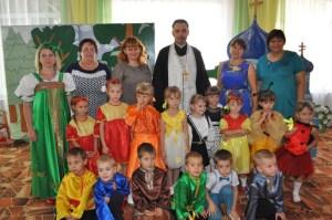 С Преображением Господним протоиерей Михаил Пеньков поздравил дошколят