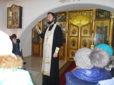 В храме Покрова Пресвятой Богородицы.