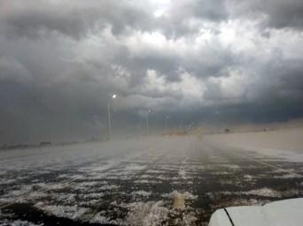 Сильнейшая стихия в виде крупного града, ветра и дождя в ст. Новокорсунской