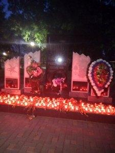 Благочинный Брюховецкого района принял участие в митинге, посвященном Дню солидарности в борьбе с терроризмом