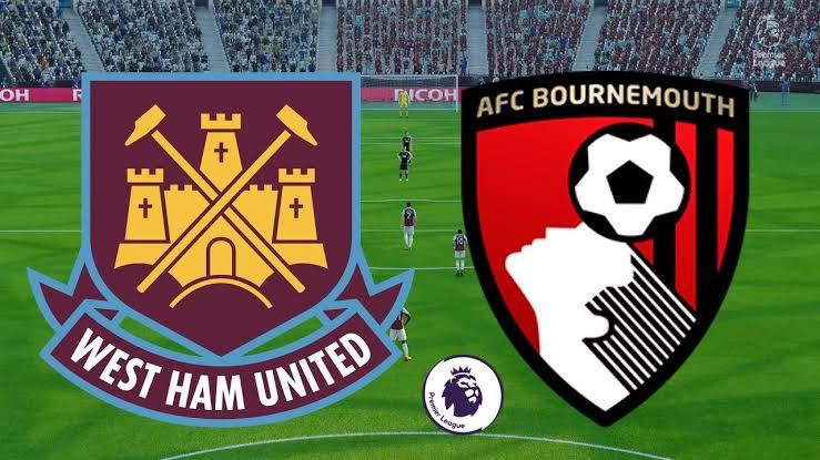 imagem ilustrativa do confronto West Ham x Bournemouth