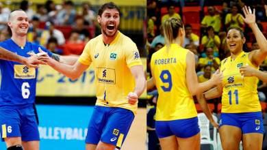selecoes-brasileiras-feminino-masculino de voleibol