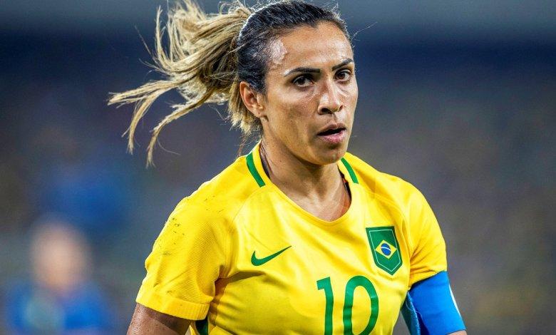 Marta, a melhor jogadora de futebol feminino.