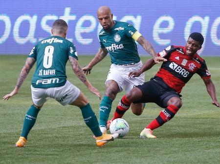 Como o Palmeiras e Flamengo Entraram em Campo
