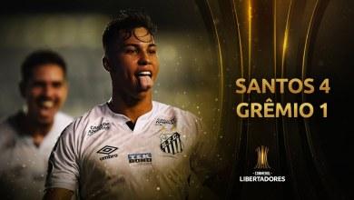Santos Goleia Grêmio e Avança para a Semifinal da Libertadores 2020