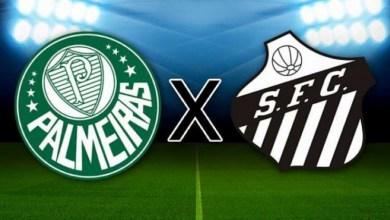 Brasões de Santos e Palmeiras.