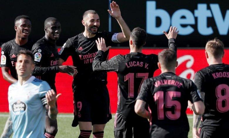 Campeonato Espanhol, Real Madrid vence o Celta por 3 a 1 com 2 gols de Benzema