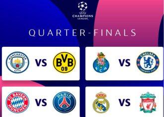 Todos os Duelos das Quartas de Finais da Champions League