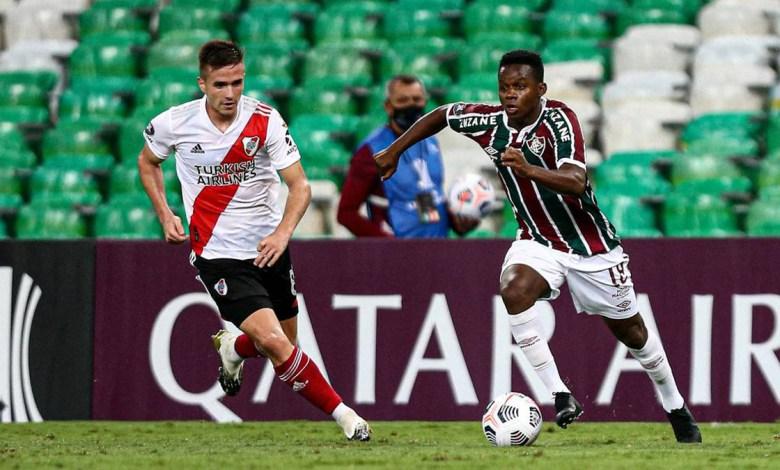 Foto/Reprodução - Fluminense vs Santa Fe.