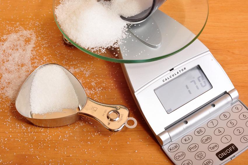 Zucker abwiegen