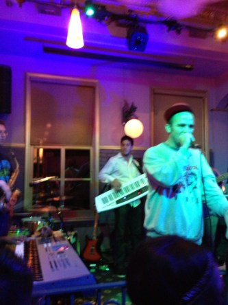 Playing Keytar with Kosha Dillz at Old Bay