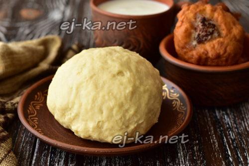 Тесто для беляшей вкусное хрустящее на кефире: рецепт с фото