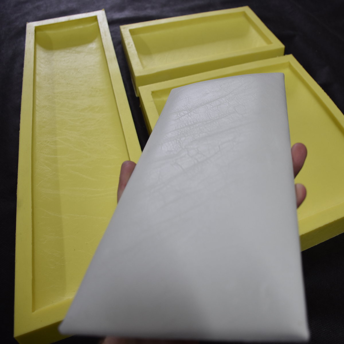 padded leather texture concrete wall tile molds