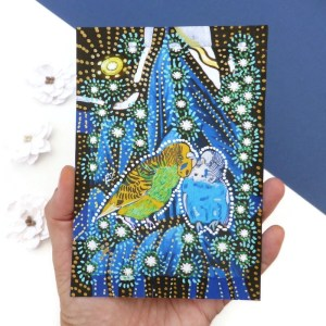 Budgie painting by Larryware