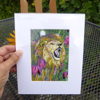 Roaring lion painting by Larryware