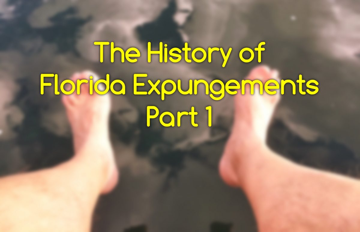 history of expungements part 1
