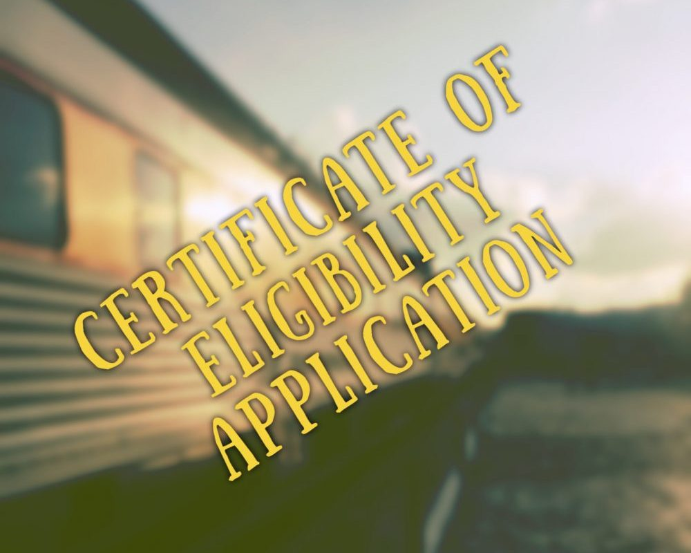 certificate of eligibility application