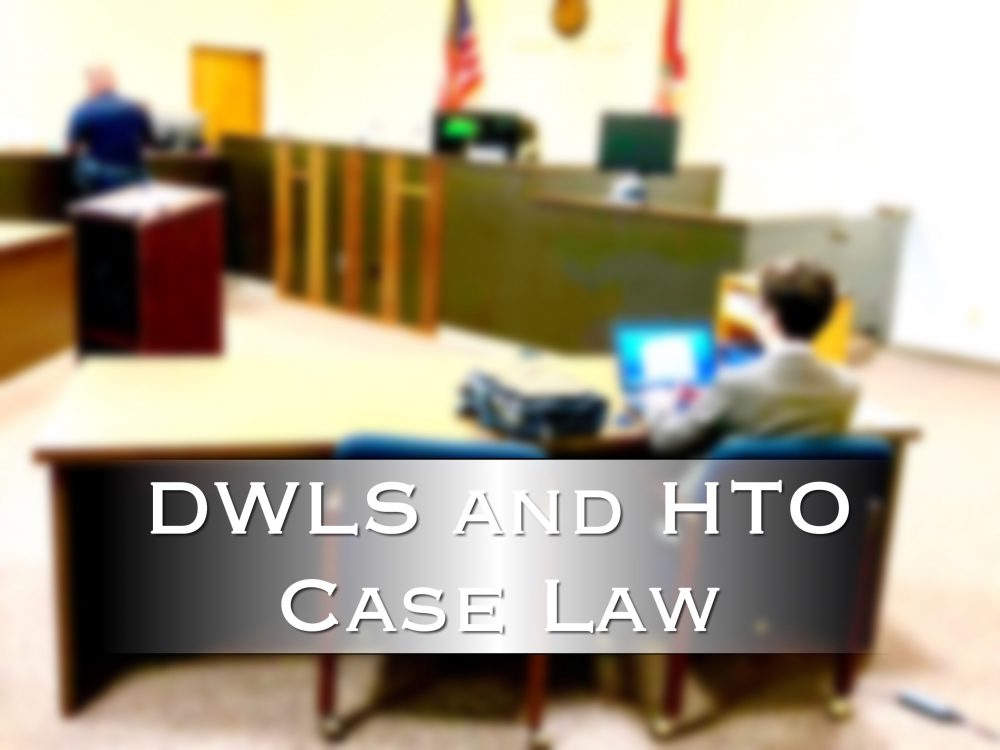 Suspended driver's license case law