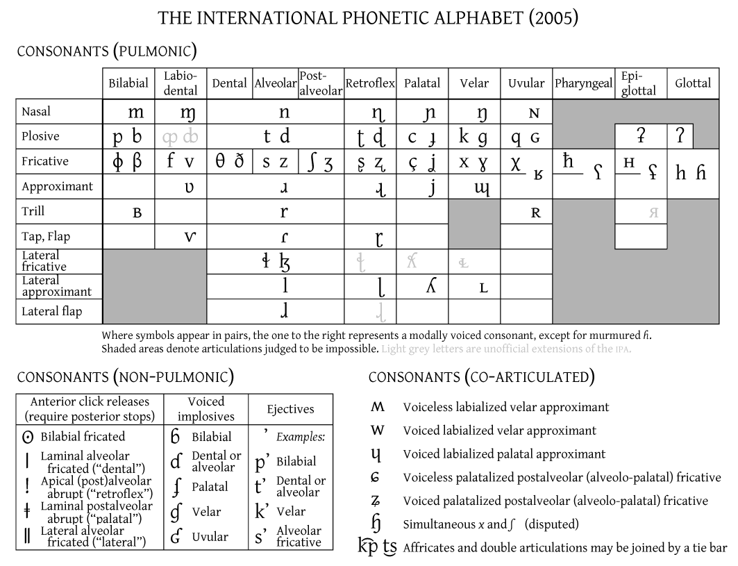 Place Of Articulation Diagram Standard Spelling