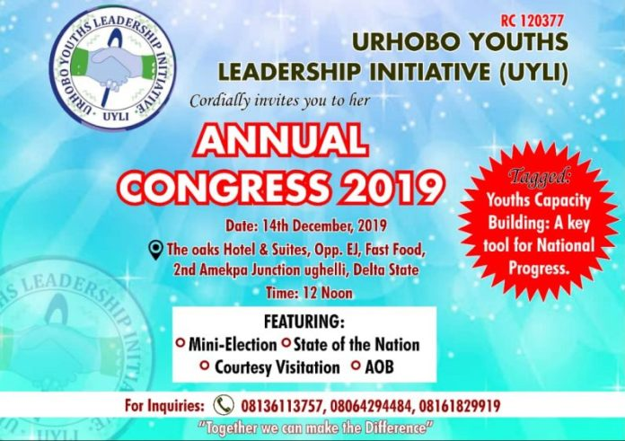 Urhobo Youths Leadership Initiative holds her 2019  Congress.