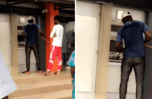 #COVID-19: Nigerian Seen Operating ATM With A Stick (Watch Video)